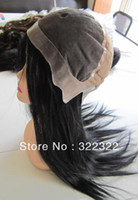 Wholesale Grade AAAA inch Virgin Indian Human Hair Thin Skin Around Wig Full Lace Wig