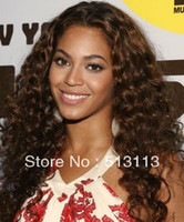 Free shipping Lace front Wig 18 wholesale curly brazilian 100% Human
