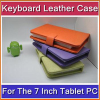 Wholesale DHL Inch keyboard leather case VIA A10 VC882 epad tablet pc MID JJ07