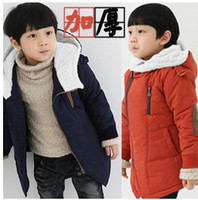 Unisex add outerwear kids - Inclined Zipper Brand Design Kids Cotton Padded Coat Jacket Added Wool boys girls Winter Outerwear