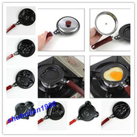 Wholesale Heart Shape Mini Non Stick Egg Frying Pancakes Kitchen Pan Housewares Kitchen Cauldron