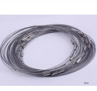 wire choker - inch Gray Steel Wire Memory Torques Necklace Wires Choker Jewelry Diy Cords Ropes
