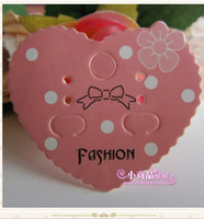 Wholesale Pink Heart Shape Earring Display Cards Paper Jewelry Dispaly Tags Cards From China Design