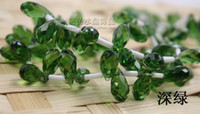 Wholesale 100pcs mm x mm deep green Quartz Faceted Crystal Glass Teardrop Beads Briolette Crystal Jewelry Loose Beads DIY