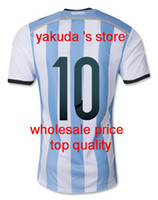 14- 15 New Argentina World Cup 10 Messi Soccer Jerseys Thai Q...