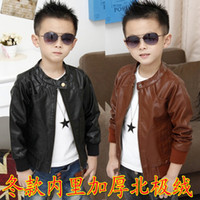 Jackets Boy Spring / Autumn children's winter boys and girls cute machine wagon jacket faux leather jacket,5pcs lot,dandys