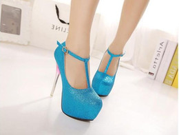 Wholesale Sexy Heavy Bottom - Wholesale - New Spring and Autumn Europe temperament nightclub sexy single shoe waterproof Taiwan high heels word buckle heavy-bottomed