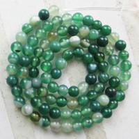 el envío libre de 4 mm y hermoso una Strand verde ágata del Onyx grano flojo redondo de 15,5 pulgadas 20strands / lot