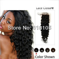 7A 3.5*4 Peruvian Lace Closure Body Wave Virgin Human Hair Closure With Bleached Knots