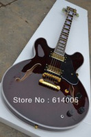 Wholesale New model JAZZ guitar custom hollow Wine red electric guitar
