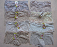 Wholesale Wholesaler new Hot Women Sexy Lace Boxers Boyshorts Jacquard Natori Bliss Bloom Lace Brief Panty Shorts Knickers