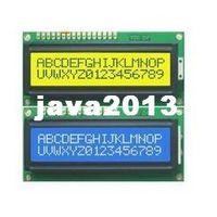 al por mayor pantallas lcd de caracteres-El envío libre, 1pcs azul + 1pcs Backlight Amarillo 1602 16x2 módulo de pantalla LCD HD44780 Carácter LCM