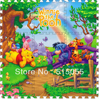 Wholesale Cheap price set Winnie Crawling Rug baby mat Cartoon Floor Mat Baby s Climb Blanket Eva Foam Puzzle Mat Game Carpet
