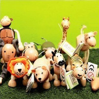 Wholesale Hot Sale toys wildlife Maple Australia Anamalz organic animal wooden dolls farm educational