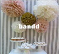 Wholesale quot cm Tissue Paper Pom Poms Wedding Party Decor Craft festival decoration
