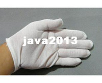 Wholesale pairs white100 cotton driving gloves