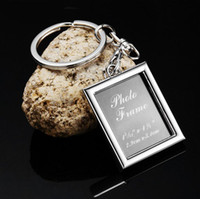 Wholesale LOGE FREE High quality Rectangle Style Photo Frame Promotional Key Chain Ring Keychain Key