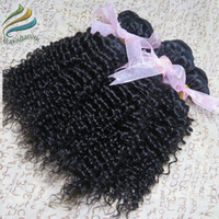 Wholesale 100 A Unprocessed Peruvian Hair Kinky Curl Remy Hair Extensions Natural Color Fast Shipping By DHL