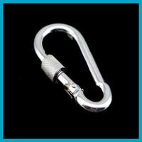 Wholesale 1 piece Multifunction Outdoor Climbing Buckle Survival Tools Hook Screwdriver Lockable Steel Buckle