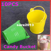 Wholesale Mini Cute Chocolate Candy Bucket Keg Wedding Party Favors Kisses DIY