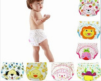 Wholesale Hot Baby diapers pants Baby cute cartoon pure Cotton urinal Baby Washable Cloth Diaper Nappies