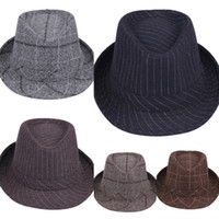 Wholesale Vogue Solid Color Fedora Hat Autumn Winter Cowboy Hat Men Women Felt Jazz Cap For Party Performance Style Choose DLY