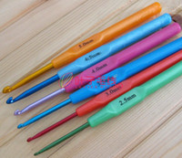 Wholesale Best price Multicolour Plastic Aluminum Crochet Hooks Knitting Needles mm