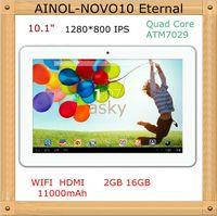 Wholesale 10 quot AINOL NOVO10 Eternal Quad Core ATM7029 Ghz Android WIFI G G white black