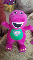 "Wild Animals purple plush Wholesale - Barney Benny Plush Singing Barney Friends 12"" Benny dinosaur Plush toy doll Fashion toy for children Christmas Gift 200pcs"