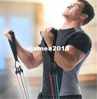 Wholesale in Latex Resistance Bands Fitness Exercise Tube Rope Set Yoga ABS Workout Fitness