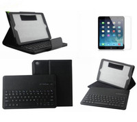 Wholesale Removable Bluetooth Keyboard Leather Case Cover For Apple iPad Air
