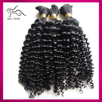 Wholesale Peruvian Human Hair Bulk inch inch Same Length Deep Curly Wave Micro Braiding Peruvian Hair Extension no Weft