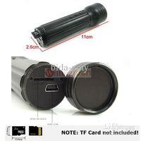 Wholesale HOT Flashlight DV Use TF card LED Flashlight DVR Flashlight camera