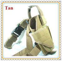 Wholesale Adjustable Tactical Airsoft Military Nylon Drop Leg Gun Pistol Holster for Hunting Rifle Gun Tan