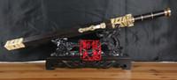 Wholesale Chinese Sword Antique Sword Handmade Damascus Steel Blade With Groove Qin Han Dynasties Collectible Sword Jian Ruyi Jian