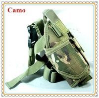 Wholesale Adjustable Tactical Airsoft Military Nylon Drop Leg Gun Pistol Holster for Hunting Rifle Gun Camo