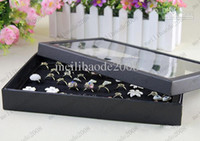 Wholesale 300pcs Black Thicker Version Hole For Rings Display Tray Cover Jewelry Box Tray Jewelry Holder Shows Case Jewelry