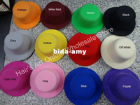 Wholesale 5 Hen Party Felt Plain Mini Top Hat colors DIY Mini hat