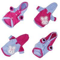 Wholesale Lovely Lace Rabbit Pattern Dog Cat Apparel Autumn Winter Outfit New Pet Clothing Colors Choose DMC