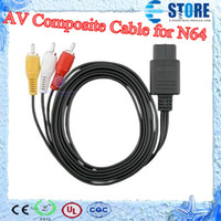 Wholesale Audio Video AV Composite Cable for Nintendo N64 Shipping Free s