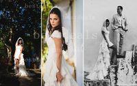 2014 New Design Vestidos De Noiva White Organza Ruffle Cap S...