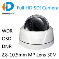 Wholesale 1080P Full HD SDI Camera mm Megapixel lens IR distance M Security CCTV Cam indoor Support DNR WDR SDI BNC Output motion detect