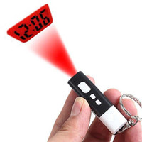 Wholesale LED Time Projector Laser Light Show Ceiling Time Projector Keychain Clock