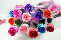 Wholesale Single Roses Soap Flowers For Wedding Favors or Wedding Gift or Decoration Soap