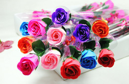 Wholesale Single Roses Soap Flowers For Mother Day Gift or Wedding Gift or Decoration Soap