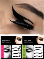 Wholesale Eye Liner Tattoos different styles in one bag pair Eye Shadow Sticker Makeup Tools P75