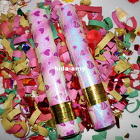 Wholesale HOT SALES Festive married supplies hand held fireworks tube salyut confetti color gun wedding cracker