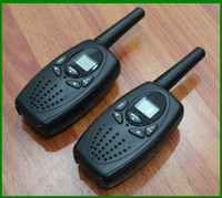 Wholesale long range talkie walkie radios PMR446 FRS GRMS mobile radio walky talky black color
