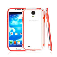 i9500 For Samsung  FREE DHL cheap bumper frame transparent cover case PC+TPU clear PROTECTOR for samsung galaxy S4 SIV i9500 with retail package