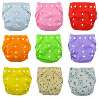 Wholesale Cute baby diapers pants Adjustable Reusable Baby Washable Cloth Diaper Nappies new born leak proof cloth diapers